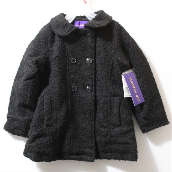 bd8e2607743 Madden Girl Jackets & Coats | Nwt Faux Wool Textured Zipper Coat ...